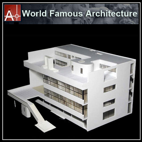 【Famous Architecture Project】Le Corbusier Villa Stein-CAD Drawings - Architecture Autocad Blocks,CAD Details,CAD Drawings,3D Models,PSD,Vector,Sketchup Download