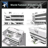 【Famous Architecture Project】Villa stein - le corbusier Sketchup 3d model-Architectural 3D CAD model - Architecture Autocad Blocks,CAD Details,CAD Drawings,3D Models,PSD,Vector,Sketchup Download