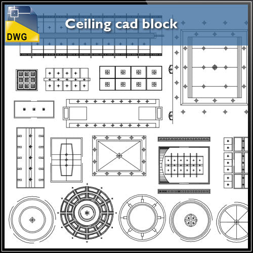 【interior Design Cad Drawings】 Ceiling Design Cad Block
