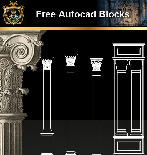 ★Free CAD Blocks-Architecture Decorative Elements V.13 - Architecture Autocad Blocks,CAD Details,CAD Drawings,3D Models,PSD,Vector,Sketchup Download