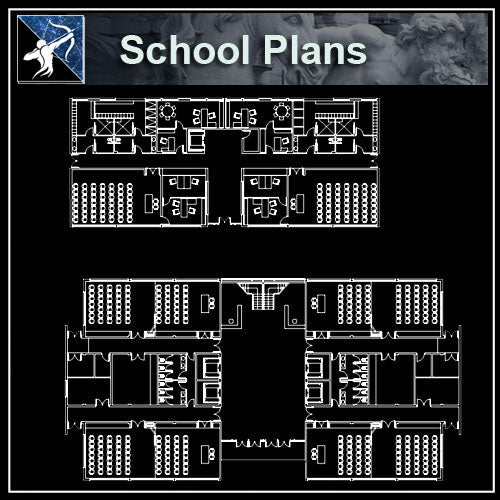【Architecture CAD Projects】Schools,University Design CAD Blocks,Plans,Layout