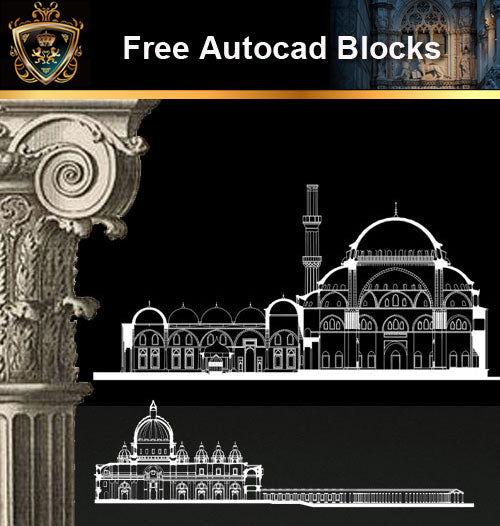 ★Free CAD Drawings-Architecture Drawings V.1 - Architecture Autocad Blocks,CAD Details,CAD Drawings,3D Models,PSD,Vector,Sketchup Download