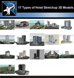 ★Best 17 Types of Hotel Sketchup 3D Models Collection V.3 (Recommanded!!) - Architecture Autocad Blocks,CAD Details,CAD Drawings,3D Models,PSD,Vector,Sketchup Download