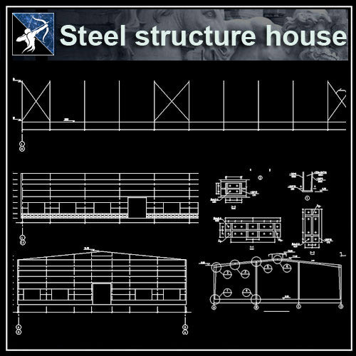 【Architecture CAD Projects】Steel Structure Design CAD Blocks,Plans,Layout