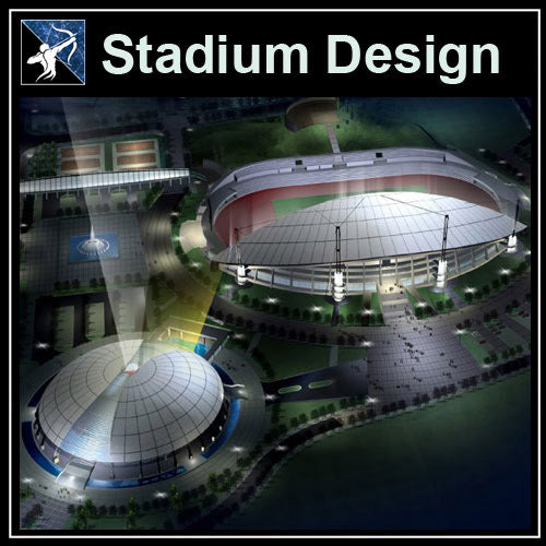 【Architecture CAD Projects】Stadium Design CAD Blocks,Plans,Layout V1
