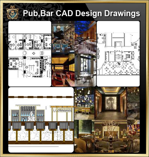 ★【Pub,Bar,Restaurant CAD Design Drawings】@Pub,Bar,Restaurant,Store design-Autocad Blocks,Drawings,CAD Details,Elevation - Architecture Autocad Blocks,CAD Details,CAD Drawings,3D Models,PSD,Vector,Sketchup Download