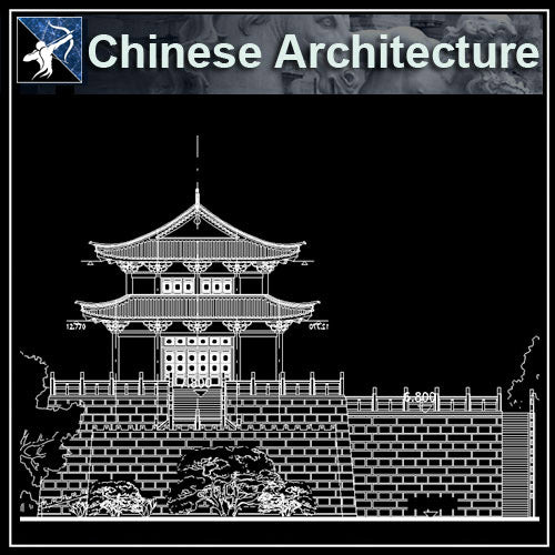 【Architecture CAD Projects】Chinese Architecture Design CAD Blocks,Plans,Layout V1