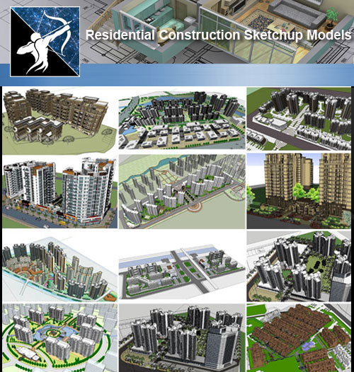 ★Sketchup 3D Models-Residential Construction Sketchup Models