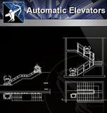 【Stair Details】Automatic Elevators - Architecture Autocad Blocks,CAD Details,CAD Drawings,3D Models,PSD,Vector,Sketchup Download