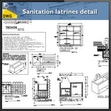 【CAD Details】Sanitation latrines architecture CAD detail dwg files - Architecture Autocad Blocks,CAD Details,CAD Drawings,3D Models,PSD,Vector,Sketchup Download