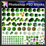 【Photoshop PSD Landscape Blocks】Landscape Tree Blocks 4