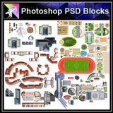 【Photoshop PSD Landscape Blocks】Landscape Paving Blocks 2 - Architecture Autocad Blocks,CAD Details,CAD Drawings,3D Models,PSD,Vector,Sketchup Download
