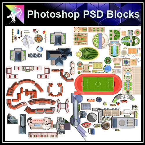 【Photoshop PSD Landscape Blocks】Landscape Paving Blocks 2