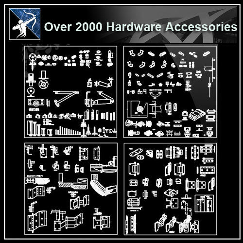 ★【Over 2000 Hardware Accessories CAD blocks】 - Architecture Autocad Blocks,CAD Details,CAD Drawings,3D Models,PSD,Vector,Sketchup Download