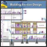 【CAD Details】Building Section design CAD Drawings - Architecture Autocad Blocks,CAD Details,CAD Drawings,3D Models,PSD,Vector,Sketchup Download