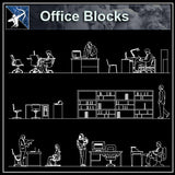 【Architecture CAD Projects】Office CAD Blocks and Plans,Elevation