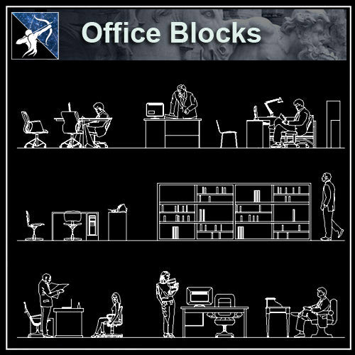 【Architecture CAD Projects】Office CAD Blocks and Plans,Elevation - Architecture Autocad Blocks,CAD Details,CAD Drawings,3D Models,PSD,Vector,Sketchup Download