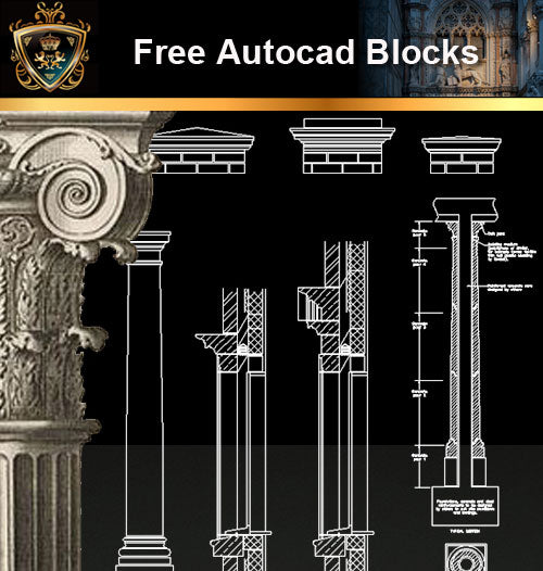 ★Free CAD Blocks-Architecture Decorative Elements V.15 - Architecture Autocad Blocks,CAD Details,CAD Drawings,3D Models,PSD,Vector,Sketchup Download