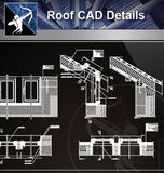 【Roof Details】Free Roof Details 2 - Architecture Autocad Blocks,CAD Details,CAD Drawings,3D Models,PSD,Vector,Sketchup Download