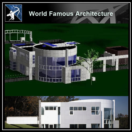 【World Famous Architecture CAD Drawings】3d Grottahouse - Richard Meier CAD 3D Model - Architecture Autocad Blocks,CAD Details,CAD Drawings,3D Models,PSD,Vector,Sketchup Download