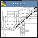 【CAD Details】Roof CAD Details - Architecture Autocad Blocks,CAD Details,CAD Drawings,3D Models,PSD,Vector,Sketchup Download