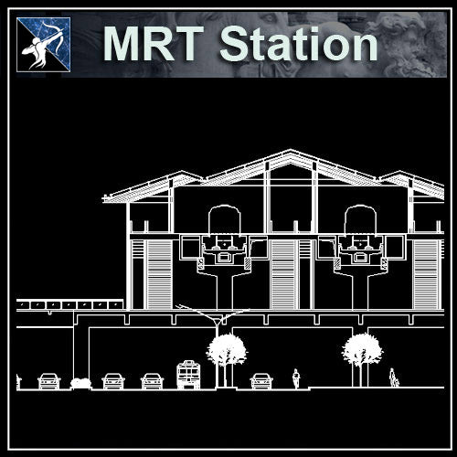 【Architecture CAD Projects】MRT Station Design CAD Blocks,Plans,Layout V2