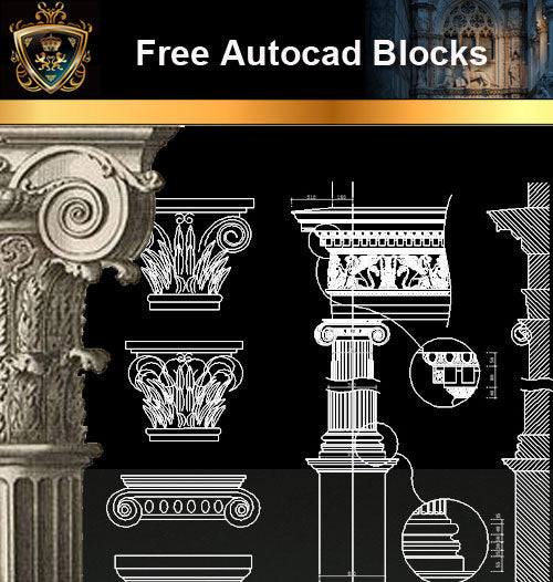 ★Free CAD Blocks-Architecture Decorative Elements V.2 - Architecture Autocad Blocks,CAD Details,CAD Drawings,3D Models,PSD,Vector,Sketchup Download
