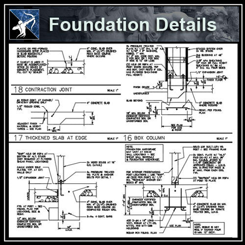 ★Free CAD Details-Foundation Details - Architecture Autocad Blocks,CAD Details,CAD Drawings,3D Models,PSD,Vector,Sketchup Download