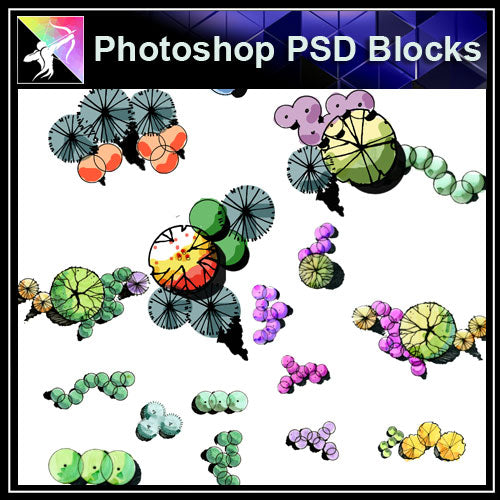 Photoshop PSD Landscape Shurb Blocks - Architecture Autocad Blocks,CAD Details,CAD Drawings,3D Models,PSD,Vector,Sketchup Download