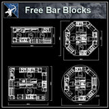 【Architecture CAD Projects】Bar,Pub CAD Blocks,Plans,Elevation - Architecture Autocad Blocks,CAD Details,CAD Drawings,3D Models,PSD,Vector,Sketchup Download