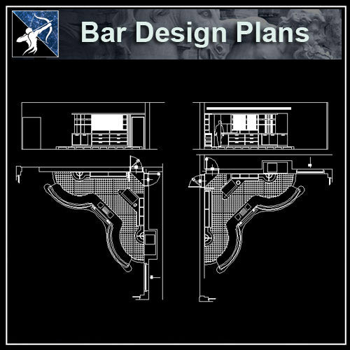 【Architecture CAD Projects】Pub,Bar Design CAD Blocks