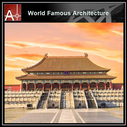 【Famous Architecture Project】 Taihedian of Beijing Forbidden City-Architectural 3D SKP model