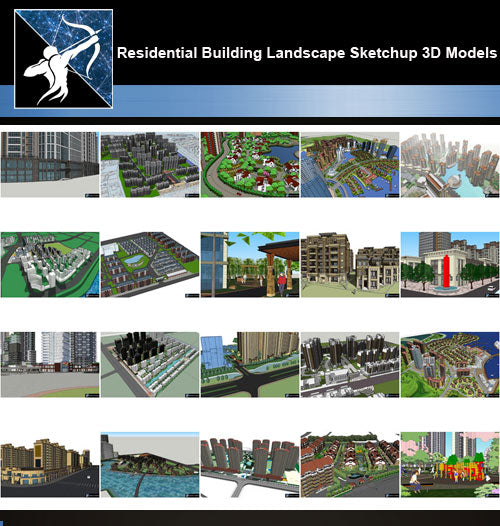 ★Best 20 Types of Residential Building Landscape Sketchup 3D Models Collection V.6 - Architecture Autocad Blocks,CAD Details,CAD Drawings,3D Models,PSD,Vector,Sketchup Download