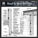 【Architecture Details】Roof & Wall Section Details - Architecture Autocad Blocks,CAD Details,CAD Drawings,3D Models,PSD,Vector,Sketchup Download