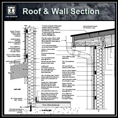【Architecture Details】Roof & Wall Section Details