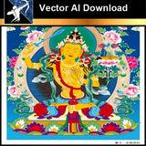 ★Vector Download AI-Thangka Paintings and Mandala: The Sacred Art of Nepal V.1 - Architecture Autocad Blocks,CAD Details,CAD Drawings,3D Models,PSD,Vector,Sketchup Download