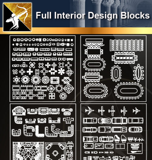 ★Full Interior Design Blocks 1 - Architecture Autocad Blocks,CAD Details,CAD Drawings,3D Models,PSD,Vector,Sketchup Download