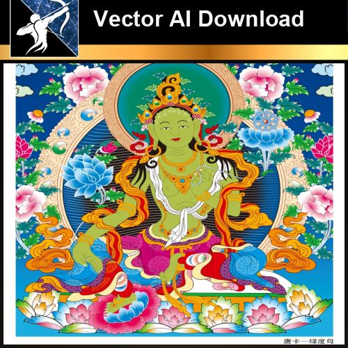 ★Vector Download AI-Thangka Paintings and Mandala: The Sacred Art of Nepal V.11