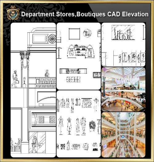 ★【Shopping Centers,Store CAD Design Elevation,Details Elevation Bundle】V.4@Shopping centers, department stores, boutiques, clothing stores, women's wear, men's wear, store design-Autocad Blocks,Drawings,CAD Details,Elevation - Architecture Autocad Blocks,CAD Details,CAD Drawings,3D Models,PSD,Vector,Sketchup Download
