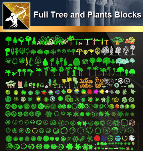 ★Full Tree and Plants Blocks