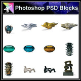 【Photoshop PSD Blocks】Accessories Blocks - Architecture Autocad Blocks,CAD Details,CAD Drawings,3D Models,PSD,Vector,Sketchup Download