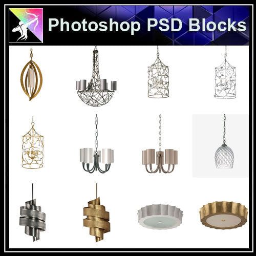 【Photoshop PSD Blocks】Ceiling Lights PSD Blocks