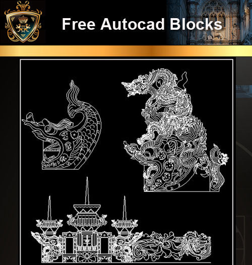 ★Free CAD Blocks-Architecture Decorative Elements V.6 - Architecture Autocad Blocks,CAD Details,CAD Drawings,3D Models,PSD,Vector,Sketchup Download