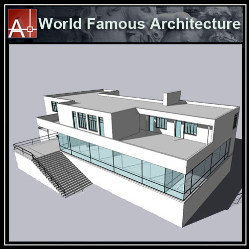 【Famous Architecture Project】Tugendhat Villa-Ludwig Mies van der Rohe-CAD Drawings - Architecture Autocad Blocks,CAD Details,CAD Drawings,3D Models,PSD,Vector,Sketchup Download
