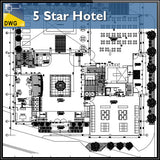 【Architecture CAD Projects】5 Star Hotel In the city - Architecture Autocad Blocks,CAD Details,CAD Drawings,3D Models,PSD,Vector,Sketchup Download
