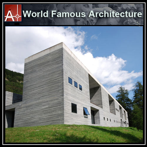 【Famous Architecture Project】The Therme Vals - Peter Zumthor-Architectural CAD Drawings - Architecture Autocad Blocks,CAD Details,CAD Drawings,3D Models,PSD,Vector,Sketchup Download