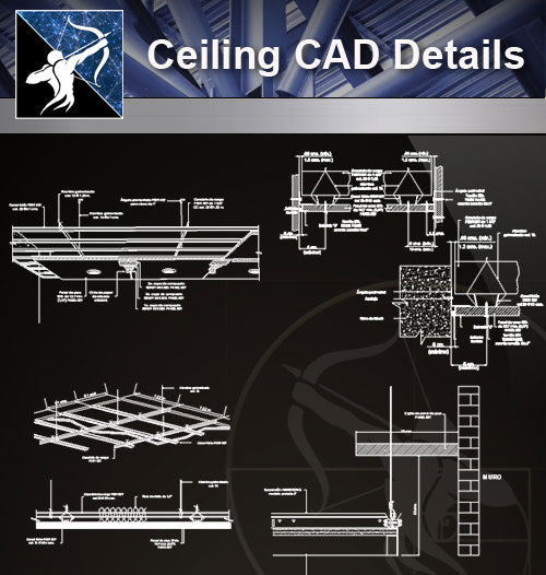 【Ceiling Details】Ceiling Design Details 2 - Architecture Autocad Blocks,CAD Details,CAD Drawings,3D Models,PSD,Vector,Sketchup Download