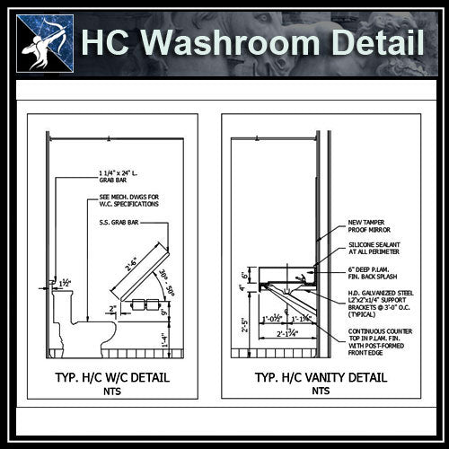 【Architecture Details】HC Washroom Detail