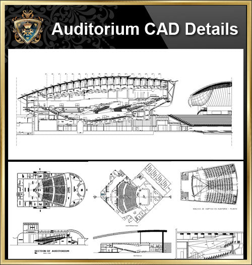 ★【Auditorium CAD Drawings Collection】@Auditorium Design,Autocad Blocks,AuditoriumDetails,Auditorium Section,Auditorium elevation design drawings