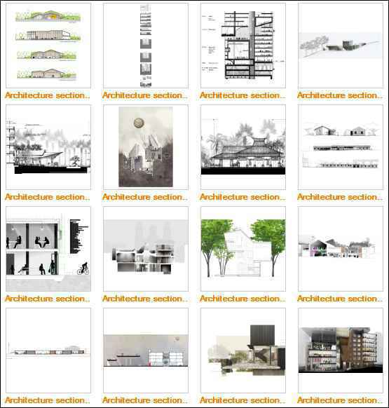 ★Best Architectural Sections Images Gallery V1(Free Downloadable) - Architecture Autocad Blocks,CAD Details,CAD Drawings,3D Models,PSD,Vector,Sketchup Download